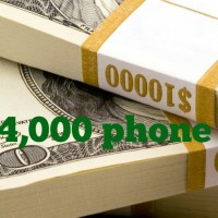 the $4,000 phone call…..